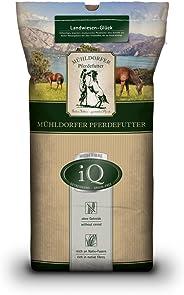 Mühldorfer iQ Landwiesen-Glück, 12,5 kg, getreidefreies Pferdefutter, ohne Melasse, strukturreich, vollwertiges Pferdefutter