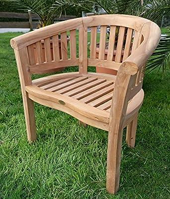 TEAK Bananensessel Gartensessel Gartenstuhl Sessel Holzsessel Gartenmöbel Holz geölt sehr robust Modell: COCO von AS-S von AS-S - Gartenmöbel von Du und Dein Garten