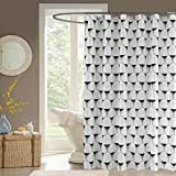 Creative geometric designs printed polyester waterproof mildew shower curtain , 70x79inch