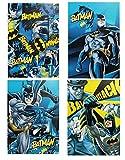 Warner Bros Batman set 4 quaderni maxi A/4 Rigo A