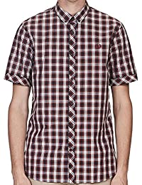 Fred Perry Summer Tartan Shirt in Rosewood