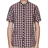 Fred Perry Summer Tartan Shirt in Rosewood Small