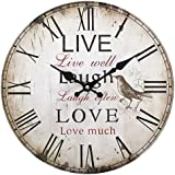 Live, Laugh, Love Clock, 34 cm