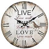 Live, Laugh, Love Uhr, 34cm