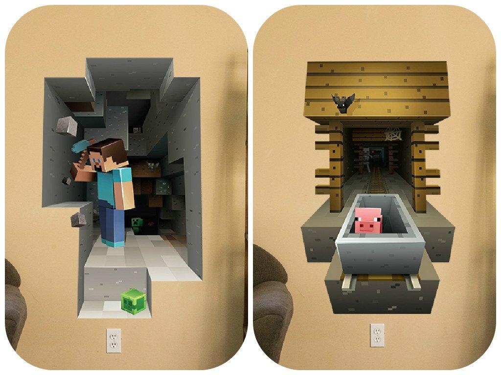 Minecraft Vinyl Wall Graphics Mining 2 Pack: Amazon.co.uk: Kitchen U0026 Home Part 35
