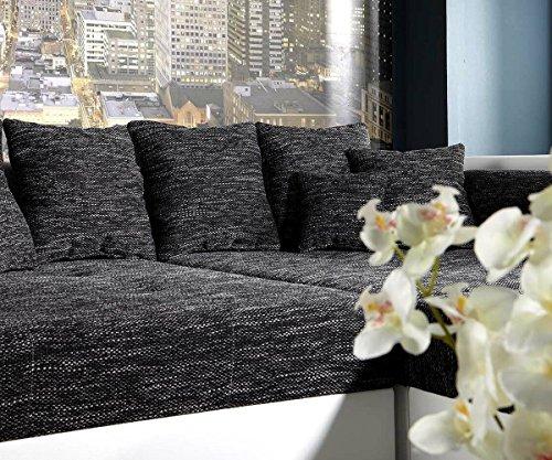 DELIFE XXL-Sofa Marlen Schwarz Weiss 300×140 cm Bigsofa