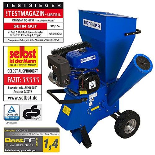 DENQBAR Gartenhäcksler / Gartenschredder mit 11 kW (15 PS) Benzinmotor