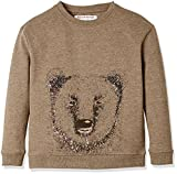 RED WAGON Jungen Sweatshirt mit Bären-Druck, Braun (Brown), 140 (Herstellergröße: 10 Jahre)