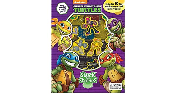 10 Suction Cups! Teenage Mutant Ninja Turtles Stuck On Stories With Board Game