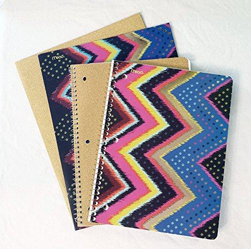 k to School Set: 2College Notebooks & 2Ordner (vergoldet Textil) ()