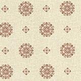 BHF 302-66827 - Salmón Vintage Floral Medallion Wallpaper