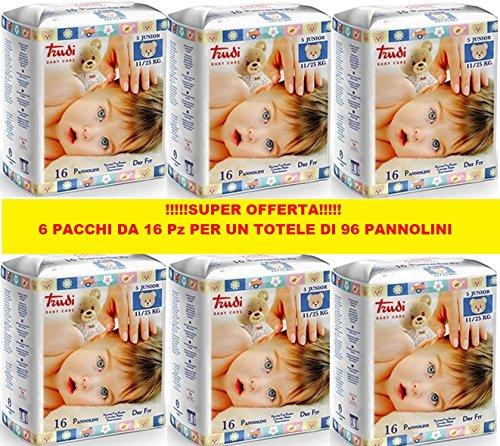 Scheda dettagliata Pannolini Trudi Taglia 5 11/25 Kg (6 Pacchi da 16pz) 96pz