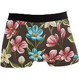 JIRT Boxer da Uomo Slip Flower Underwear Senza Cuciture da Uomo Tronchi Elasticizzati Traspiranti Bulge Pouch Soft Underpants