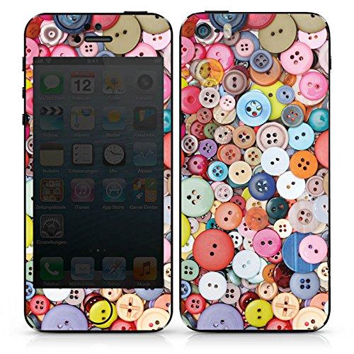 Apple iPhone SE Case Skin Sticker aus Vinyl-Folie Aufkleber Knöpfe Nähen Bunt DesignSkins® glänzend