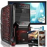 AGANDO Silent Gaming PC-Komplettpaket | AMD FX-6300 6x 3.5GHz | GeForce GTX1050 2GB | 4GB RAM | 1000GB HDD | DVD-RW | 55cm (22') TFT | Gaming-Tastatur | Gaming-Maus | WLAN | Windows 10 | 36 Monate Garantie | Computer für Multimedia, Gaming, Büro/Office + 2 Gratis Spiele