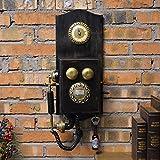 Metall präzise Wanduhr --- Retro Nostalgie Telefon Modell Wohnzimmer dekoriert Wanduhr --- 1 x AA Batterie (nicht enthalten)