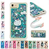 LA-Otter Coque iPhone 6S Plus 6 Plus Liquide Paillette Silicone TPU Gel Bumper Bling...