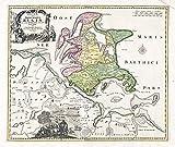 Karte der Inseln Rügen und Hiddensee: Faksimile-Nachdruck einer historischen Karte aus dem Jahr 1716