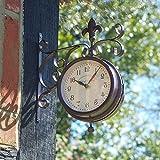 Außen in York Station Uhr & Thermometer 14cm