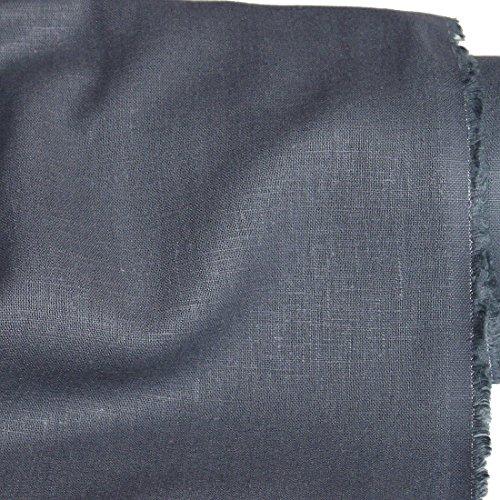 Dunkel Grau Leinen (TOLKO Leinen-Stoff Meterware zum Nähen, blickdichter Naturstoff für Bekleidung, Gewänder, Vorhänge und Deko (Dunkel-Grau))