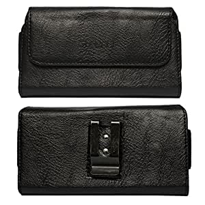 DMG Leather Pouch Belt Clip Holster Case for Nokia 603 (Black)
