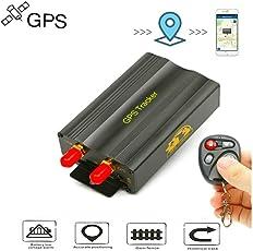 TKSTAR GPS Ortung, Echtzeit GPS Tracker mit Fernbedienung Fahrzeug Auto Motorrad LKW GPS Locator Diebstahlschutz mit Google Map Diebstahlschutz für kostenlose App TK103B