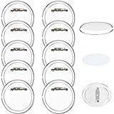 FOGAWA 30Pcs Chapas Plasticas con Alfiler Chapas Pin Boton Redondo Pin Personalizado de Solapa de Acrílico Transparente con 3