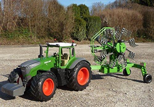 RC Traktor kaufen Traktor Bild 1: RC Traktor FENDT 1050 SCHWADER-Anhänger in XL Länge 70cm