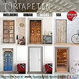 Türtapete selbstklebend Türposter – STEG ZUM MEER – Fototapete Türfolie - 4
