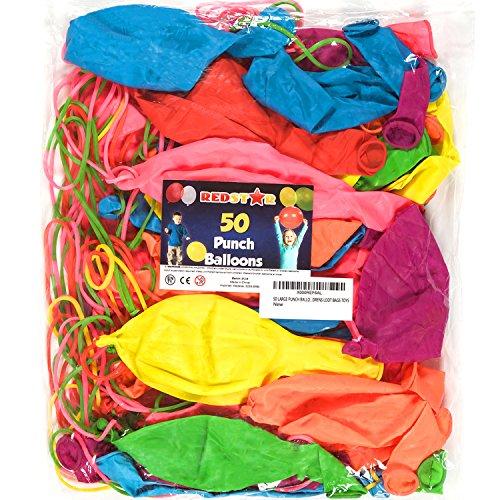 Redstar Fancy Dress - Große Punch-Luftballons für Kinder - Spielzeug Kindergeburtstag - 50 Stück