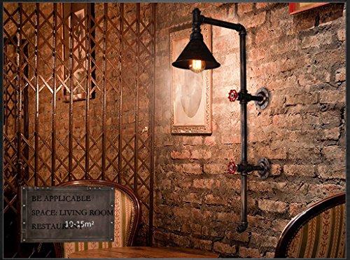 R¨¦tro projet d'¨¦clairage industriel de restaurant de style loft lampe murale am¨¦ricaine couloir bar balcon tuyaux Creative