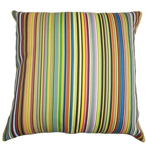 Galleria fotografica The Pillow Collection Kaili Stripes Outdoor cuscino, multicolore