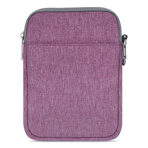 MoKo Kindle Paperwhite / Kindle Voyage Sleeve Hülle - Tragbare Nylon Schutzhülle Tasche für Amazon Kindle Paperwhite / Voyage / 6 inch Kindle Oasis / Kindle 8. / HD 6 6 Zoll, Violett