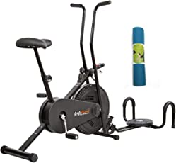 Lifeline Gym Cycle 102 for Home Use Bundles with Twister, Pushup Bar and Yoga Mat (6 MM)