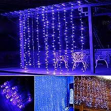 OMGAI 300LEDs Cortina De Luz Con 8 Modos De Navidad De La Boda Del Partido Del Año Nuevo Azul