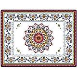 R2S 961BOHE Bohemian Set de Table Rigide Plastique Multicolore 41 X 31 X 3 cm 4 Pièces
