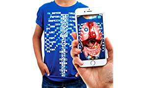Curiscope Virtuali-Tee | Educational Augmented Reality T-Shirt | STEM Toy Ages 3 and Up