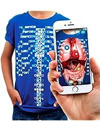 Curiscope Virtuali-Tee | Camiseta Educativa de Realidad Aumentada | Adulto: M, Azul
