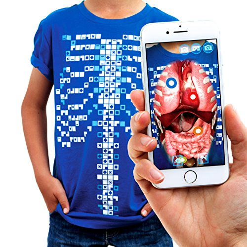Curiscope Virtuali-Tee | Lehrreiches Augmented-Reality-T-Shirt | Kinder XL (12-14 Jahre) - X 14 Cast