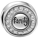 Soufeel Family Charm Bead Anhänger mit Swarovski Zirkonia 925 Sterling Silber