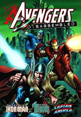 Portada del libro Avengers Disassembled: Iron Man, Thor & Captain America HC (Oversized) by Andrea Divito (Artist), Tony Harris (Artist), Scott Kolins (Artist), (1-Apr-2009) Hardcover