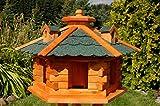XXL Vogelhaus Vogelvilla mit Gauben Nr16 Dach grün