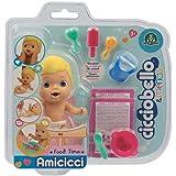 Cicciobello Amicci CC001300 Baby met etenset en accessoires, model Blond, speelgoed voor kinderen vanaf 3 jaar, CC001300