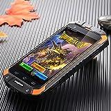 Guophone V9 Smartphone IP68 Wasserdicht Outdoor Handy (4 Zoll QHD Touchscreen, Dual-SIM Quad-Core, 1GB Ram + 8GB Rom, Eingebaute GPS-Navigation + AGPS, 4500mAh) (Orange)