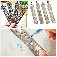 KAIMENG Zeichnung Vorlage Lesezeichen Stencil hohlen Symbol Tool Lineal - 4pcs preisvergleich bei billige-tabletten.eu
