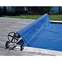 Enrollador de piscina para manta térmica o cobertor solar de ancho 3,9 a 5,20 metros