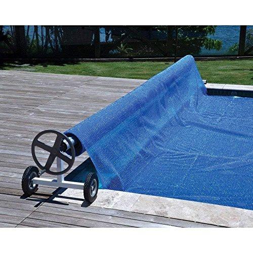 El enrollador TP Roller K especial de Telepiscinas - con tubos de 79-80 mm. de diámetro - es idóneo para piscinas enterradas. Gracias a su sistema telescópico, puede ser utilizado en mantas térmicas de burbuja de ancho: de 3,90 a 5,20 mt. y máximo 10...