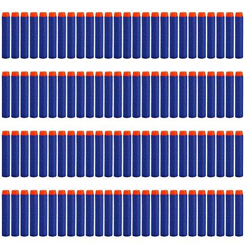 Dardos nerf Espuma, StillCool 100pcs espuma bala Blasters para Nerf N-strike Elite serie 7.2cm ,azul oscuro (tipo de bala)