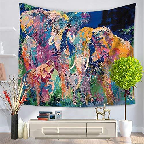 andala-Bunte Elefant-gedruckte Tapisserie-Wand-hängende Strand-Wurfmatte Hippie-Bettdecke-Yoga-Matten-Decke, 150cmx200cm, O28 ()