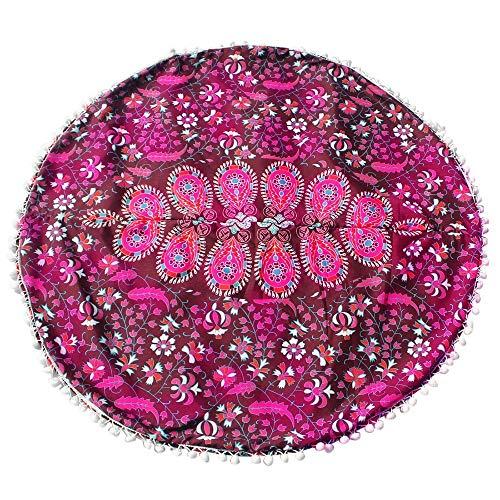 Npradla seta large mandala floor pillows round bohemian meditation fodera per ottoman poufaccogliente scont